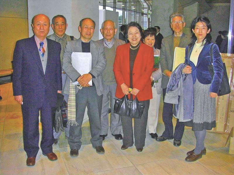 堂本千葉県知事を囲んで ほのぼの研究員