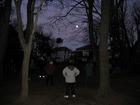 朝の体操と月